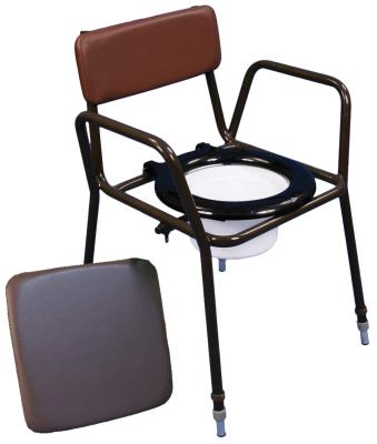 Height Adjustable Commode Chair