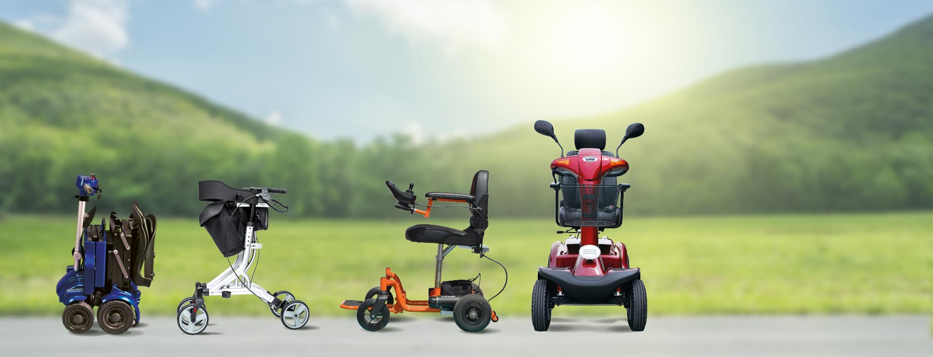 A selection of mobility products