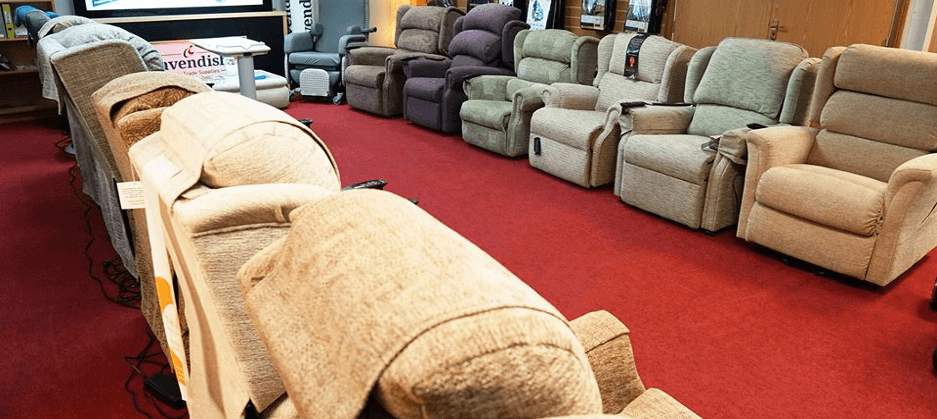 Selection of Riser Recliner Chairs at our Waterlooville Showroom